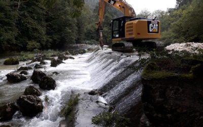 L'arasement des barrages sur le Dessoubre a commencé!!!