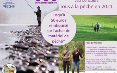 25€ remboursés sur votre matériel de pêche !